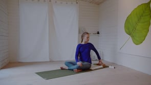 Begin with seated poses…